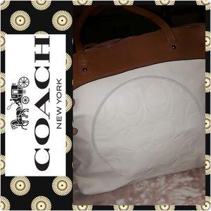 Coach shoulder bag leather